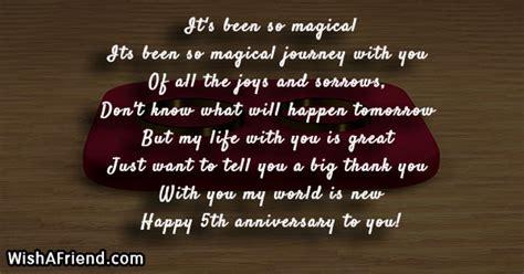 magical  anniversary poem