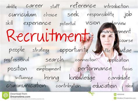 bureau d ude recrutement concept de recrutement d 39 écriture de femme d