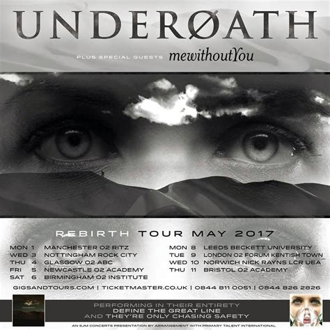 underoath supporting tour
