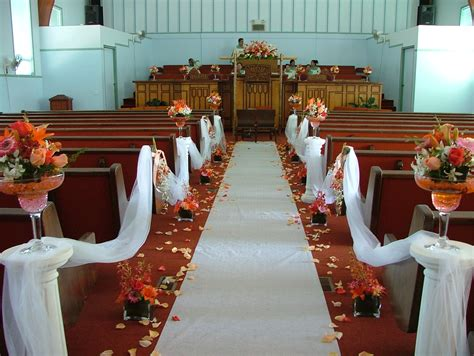 Church Wedding Aisle Decoration Ideas