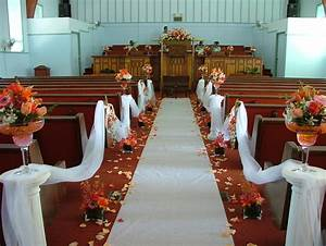 fashion on the couch wedding church decorations With how to decorate for a wedding