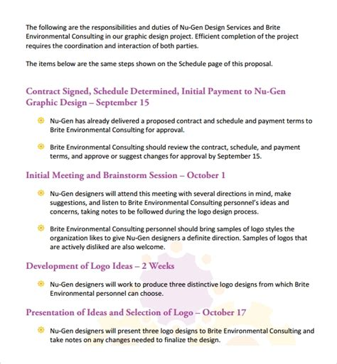 sample graphic design proposal template
