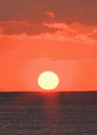 Sunset Gifs Orange Nature Ocean Hawaii Sun
