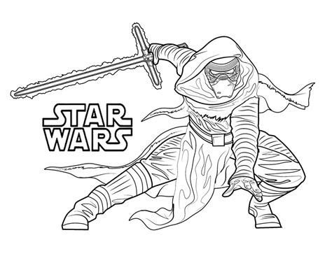 Han Solo Kylo Ren Coloring Pages Printable Han Best Free