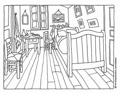 Gogh Van Coloring Bedroom Vincent Painting Project