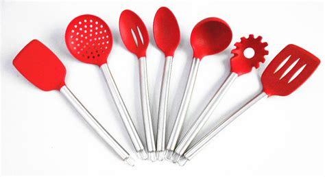 ustensiles de cuisine en silicone gros gratuite 7 peça silicone ustensiles de cuisine outils