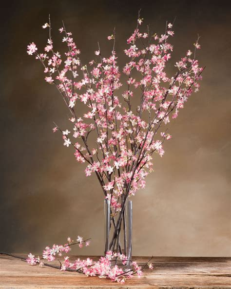 cherry blossom silk flower stems for casual decorating at