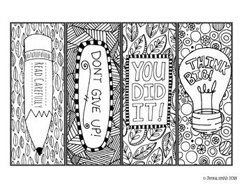 cartoon coloring bookmarks kids  adult coloring pages