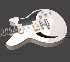 Agile Harm 1 White P90 Semi Hollow Electric Guitar New