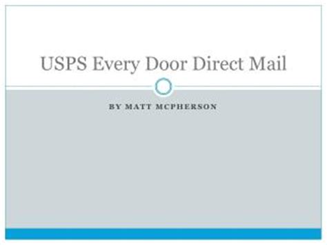 usps every door direct ppt usps new address requirements for automation