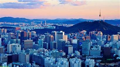 Korea South Seoul Widescreen Afternoon Background Wallpapers