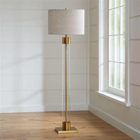 avenue brass floor lamp reviews crate  barrel