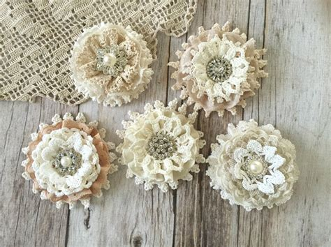 shabby chic lace last one 5x shabby chic lace handmade flowers