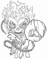 Ghost Rider Coloring Pages Ghostrider Cartoon sketch template