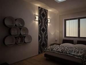 3d Tapete Schlafzimmer : tapeten schlafzimmer schwarz ~ Lizthompson.info Haus und Dekorationen