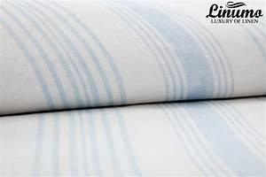 Bettwäsche Blau Weiß Gestreift : leinenstoff aus 100 leinen 160 g qm 160cm wei blau gestreift leinenbettw sche linumo ~ Watch28wear.com Haus und Dekorationen