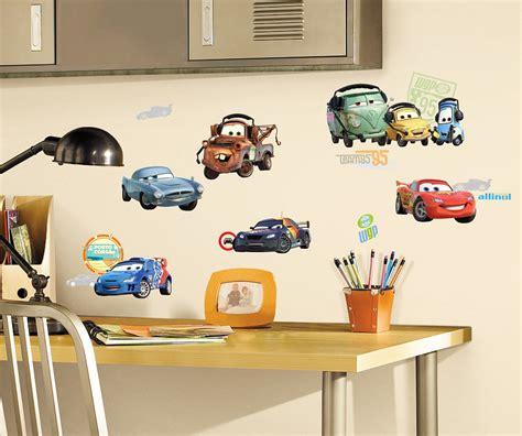 wandgestaltung kinderzimmer cars roommates wandsticker autos fahrzeuge disney pixar cars