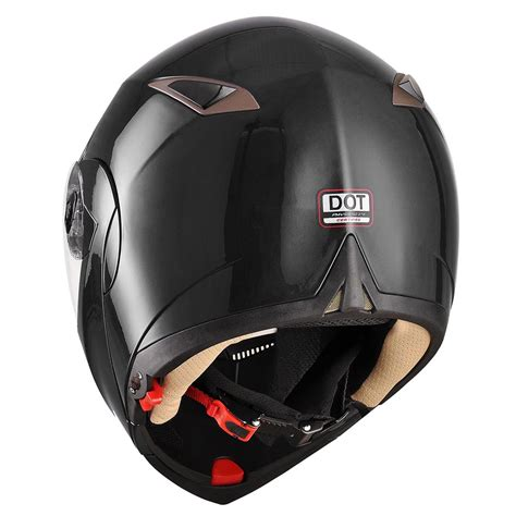 dot motocross dot full face flip up motorcycle helmet dual visor bike