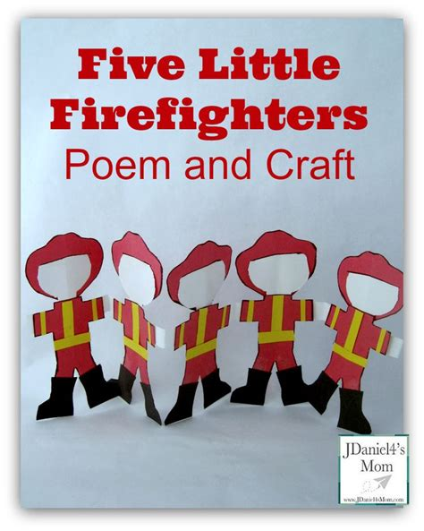 community helpers five firefighters poem and craft 949 | b4c8f59a629628b215484303244c275a