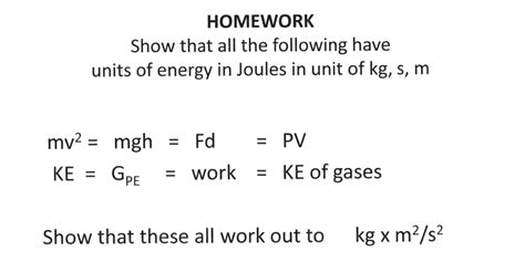 Homework Show That All The Following Have Units Of