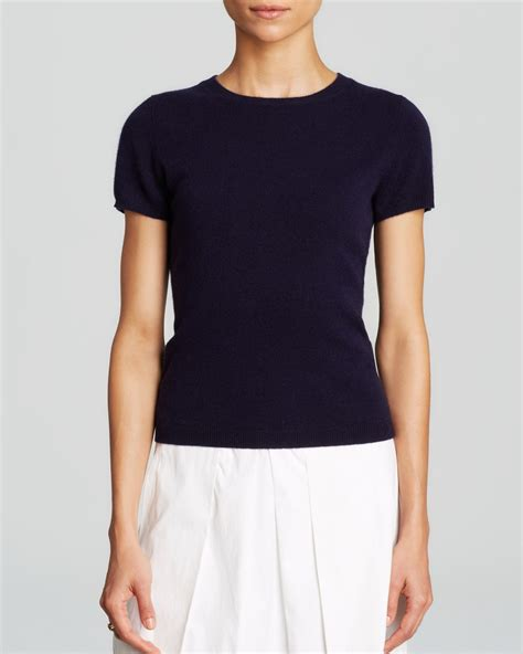 sweater shorts lyst c by bloomingdale 39 s sleeve sweater