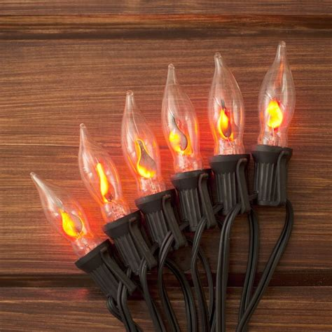 c7 flickering light string our flickering flame string lights add a realistic glow to