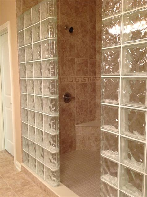Corner Shower Pans by Glass Block Shower Wall Dublin Ohio Mediterranean