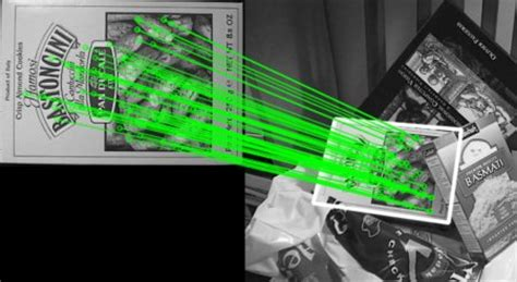 opencv feature matching homography  find objects