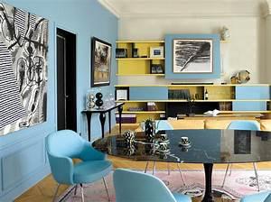 Peinture salon : plus de 20 couleurs canons pour le repeindre Elle Décoration