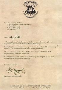 Hogwarts acceptance letter from harry potter we heart it for Harry potter acceptance letter