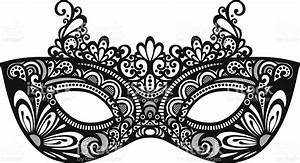 Mask clipart vector - Pencil and in color mask clipart vector