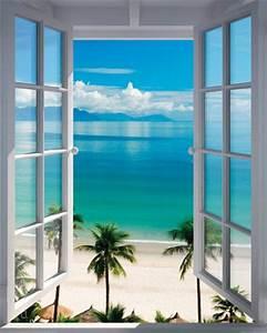 Fototapete Fenster Aussicht : poster fenster zum s dsee strand mit palmen ~ Michelbontemps.com Haus und Dekorationen