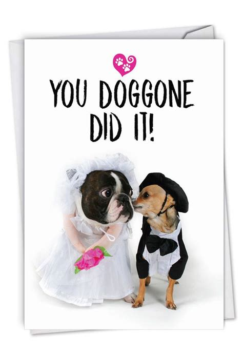 Married Dogs: Hysterical Wedding Congratulations Printed