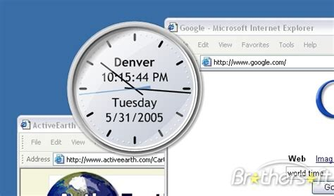 Download Free Activeearth Desktop Clock, Activeearth
