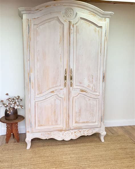 how to shabby chic a wardrobe 1vtg french country provincial karges cream gold gilt armoire soapp culture