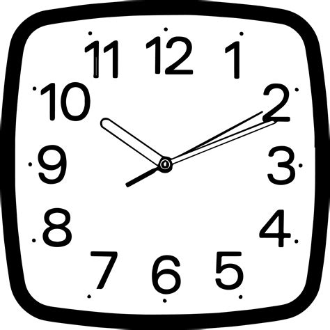 clock coloring page coloring pages