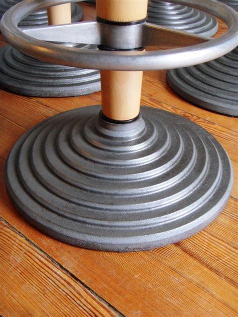chaise de bar tabouret de bar socle fonte repose pieds aluminium