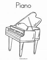 Piano Coloring Keyboard Printable Sheets Twistynoodle Colouring Outline Drawing Angel Cartoon Noodle Twisty Usa Play Tracing Login Favorites sketch template