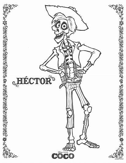 Coco Pages Coloring Hector Disney Pixar Miguel