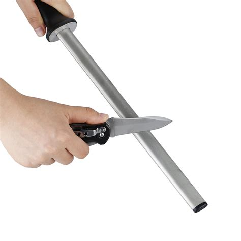 Kitchen Knife Sharpening by Knife Sharpener Professional 12 Inch Steel Rod