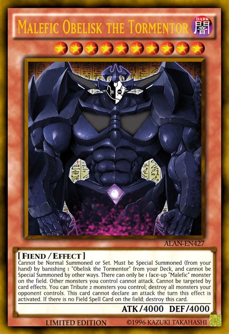 Yugioh Malefic Deck List by Malefic Obelisk The Tormentor By Alanmac95 On Deviantart