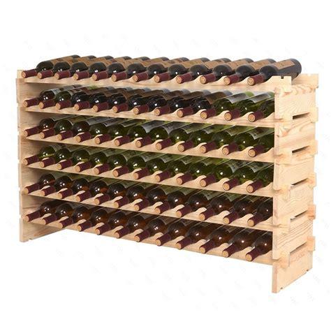 stackable wine rack storage  bottles cellar display