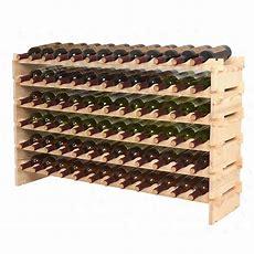Stackable Wine Rack Storage 72 Bottles, Cellar Display