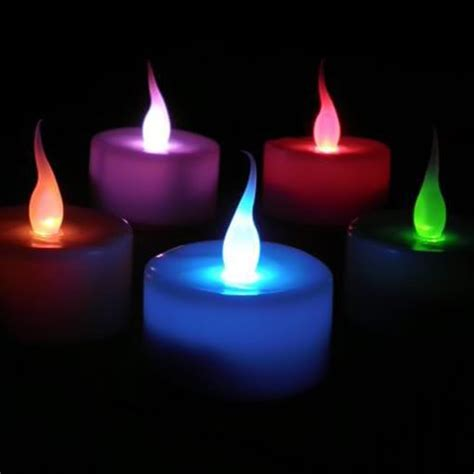 candele al led set 10 candele a led cambia colore luce multicolore