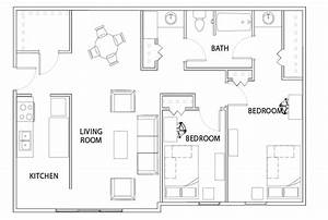2, Bed, -, 1, Bath, Deluxe, Apartment, -, Willowtree, Apartments, And, Tower, -, Student, Housing