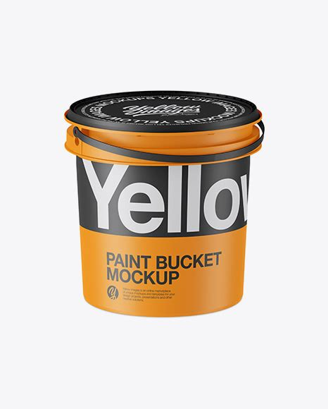 This paint bucket free mockup includes special layers and a smart object for your design. Matte Plastic Paint Bucket Mockup - Half Side View (High ...