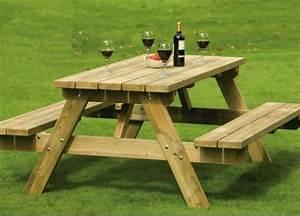 Table Jardin En Bois : table de jardin 43 exemples qui plaisent ~ Teatrodelosmanantiales.com Idées de Décoration