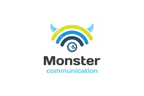monster communication logo design logo cowboy