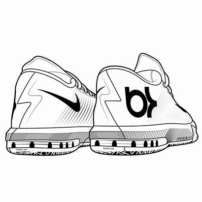 Nike Shoes Coloring Pages Jordan Kd Drawing