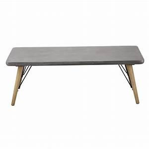 Table Basse Bois : table basse en bois grise l 120 cm cleveland maisons du monde ~ Teatrodelosmanantiales.com Idées de Décoration